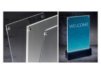 Présentoir de table Sigel LED A5 150x250x45mm
