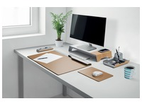 Organiseur de bureau Sigel Smartstyle 240x150x36mm gris argenté/bois