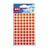 rood sticker ronde klevertjes pastilles 8 mm stickertjes markeren rode ronde stikkers