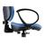 blauwe bureaustoel met armleuningen